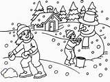 Coloring Winter Preschool Printable Kindergarten Sheets Divyajanani sketch template