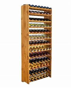Casier À Bouteilles En Bois : casier vin en bois massif laqu pour 91 bouteilles ~ Dode.kayakingforconservation.com Idées de Décoration