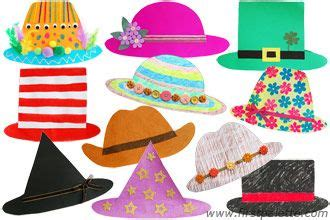 easy paper hat craft  templates  directions