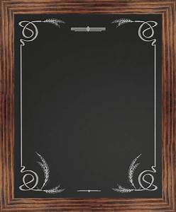 Border Chalkboard, Wheat - Rustic - Bulletin Boards And
