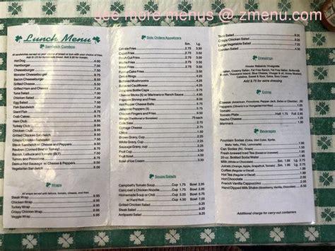 menu  mcateers restaurant fairmont west