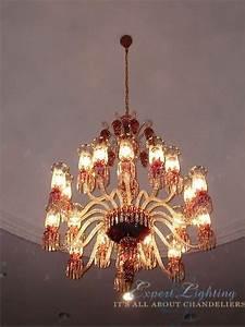 Baccarat chandelier installation expert lighting inc