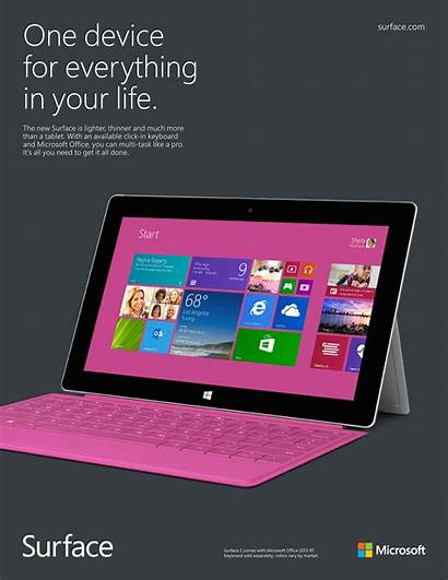 Microsoft Surface Ad Campaign Agency Tablet Exposure