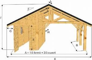 Abri De Jardin Ouvert : abri auvent mixte 1 3 ferm 2 3 ouvert frontal mod le jura ~ Premium-room.com Idées de Décoration
