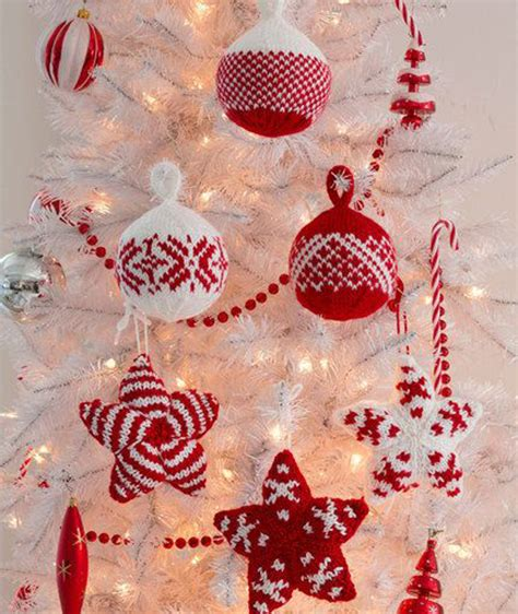 christmas knitted trees ornament