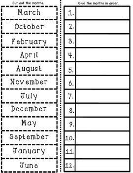 esl months of the year vocabulary cards and worksheet activities by esl rocks