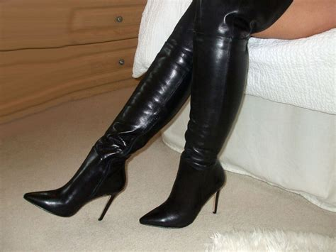 Soft Glossy Leather High Heel Overknee Thigh Boots 3 4 5 6