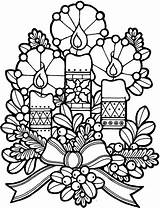 Candle Coloring Pages Light Night Church Decoration sketch template