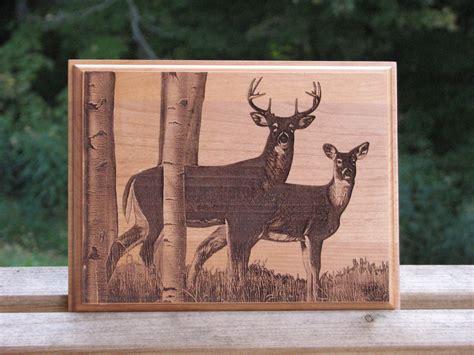 laser engraved wood plaque deer hunters plaque