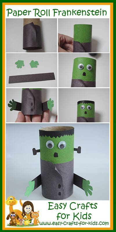 Halloween Frankenstein Craft for an empty paper roll!