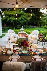 Outdoor, Fall, Tablescape, -, An, Autumn, Harvest, Table