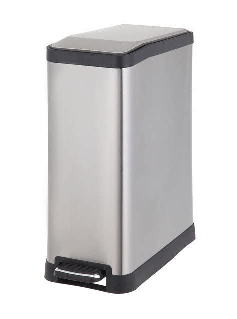 Trash Can 9 Inches Wide by Homezone Va41311a 45 Liter Stainless Steel Rectangular