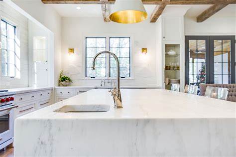 center islands for kitchen waterfall edge countertops surface one