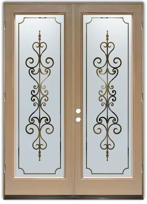 entry doors with frosted glass designs sans soucie glass