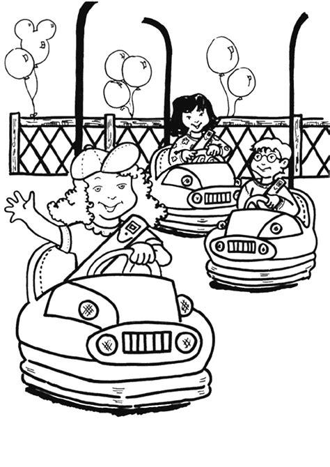 amusement park coloring pages