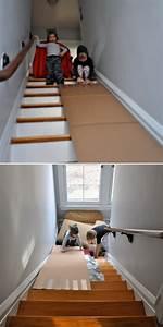 Fabriquer Un Toboggan : un toboggan pour l escalier de la maison ~ Mglfilm.com Idées de Décoration