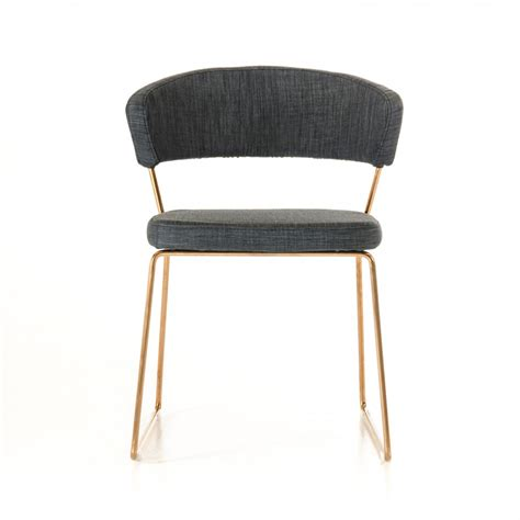 rudolpho modern grey dining chair with gold modern