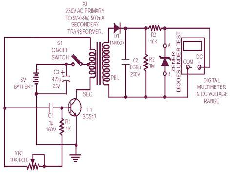 diode zener tester circuit scheme