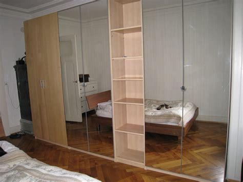 3 Ikea Pax Wardrobes. * 2 With Mirror Doors