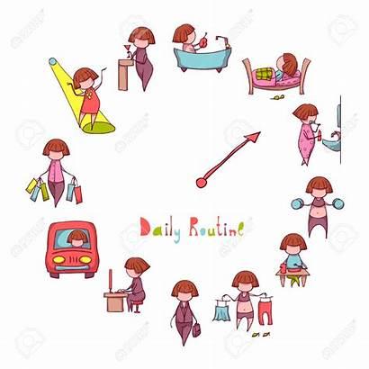 Routine Rutina Clipart Diaria Dagelijks Tagesablauf Quotidiana