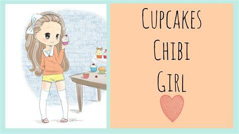 food chibi series cupcakes girl speed drawing