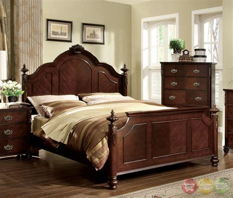 roseland traditional brown cherry bedroom set