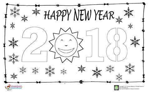 happy new year coloring pages happy new year coloring page for preschoolplanet