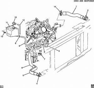 1997 Chevrolet Tahoe Base Reservoir  Engine Coolant