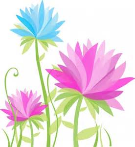Abstract Flowers Vector Free