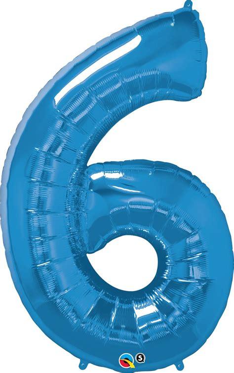 number  blue super shape number foil balloon