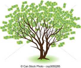 clipart vector of paired money trees two money trees growing together csp3055285 search
