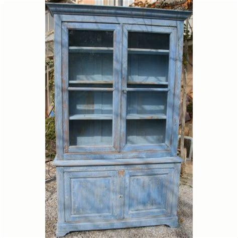 bureau turquoise antique buffet two bodies glass