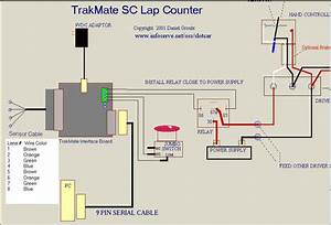 Trakmate Slot Car Timer Diagram