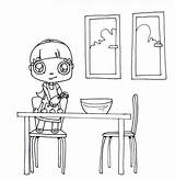 Coloring Cooking Cookies Pages Chocolate Baking Chefs Printable Making sketch template