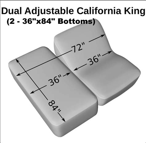 27463 width of bed dual adjustable california king 2 36 quot x84 quot bottom sheet