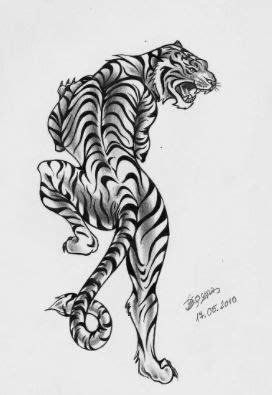 White tiger traditional tattoo | Arm tattoos tiger, Traditional tiger tattoo, Tiger tattoo