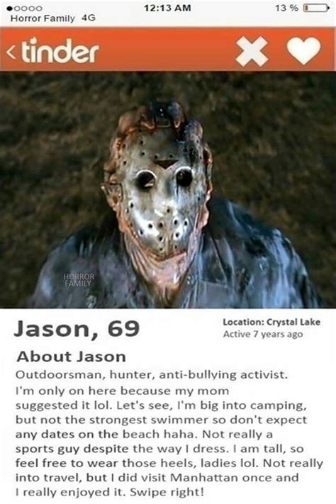Jason Voorhees Memes - jason voorhees tinder scurvy s concept art culinary abominations and other curiosities