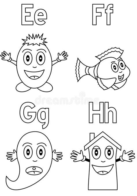 Coloring Alphabet For Kids [2] Stock Vector - Image: 8933043
