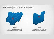 Editable Nigeria PowerPoint Map SlideModel