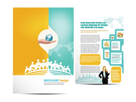 Free 4 Fold Brochure Template Best Sles Templates Free Vector Brochure Templates Creative Beacon