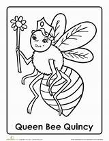 Queen Bee Letter Worksheet Preschool Coloring Worksheets Bees Activities Alphabet Printable Template Preschooler Reading Letters Education Tales Fairy Quilt Abc sketch template