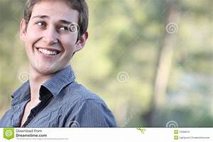 Portrait Of A Handsome Young Man Smiling Stock Photography ...