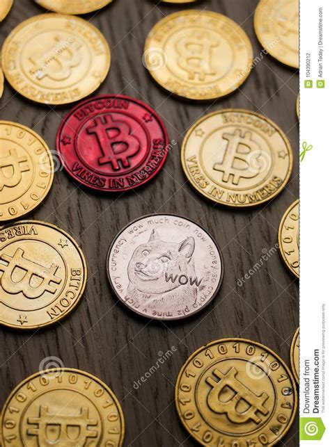 Watch our tutorial to find out how to create your own in seconds. Bitcoin and Dogecoin coins stock photo. Image of exchange - 104390212