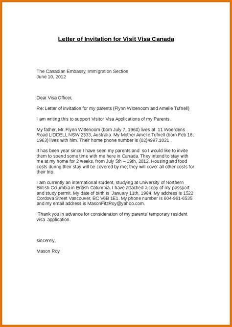 Us Visa Resume Sle by Invitation Letter To Visit Us 25 Images Invitation