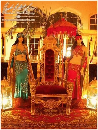 Harem Orient Sultans Themeninseln Deko Zelt Shisha