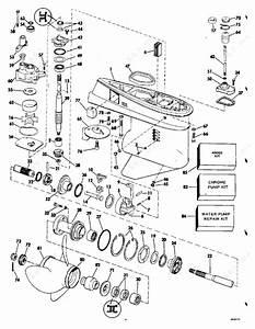 Johnson 1983 50 - J50becta  Gearcase