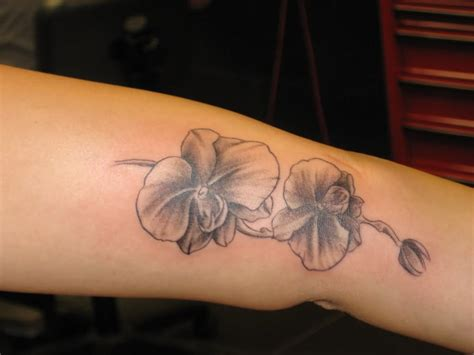 beautiful orchid tattoos
