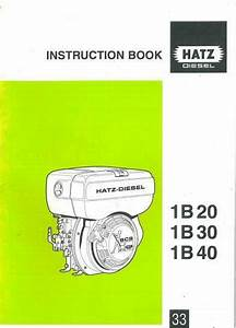 Hatz Diesel Engine 1b20 1b30 1b40 Operators Manual