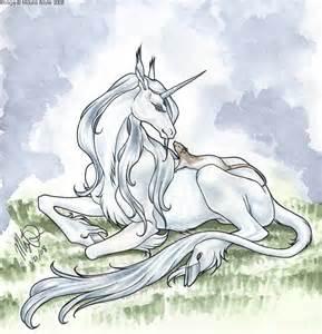 Unicorn Laying Down Drawing