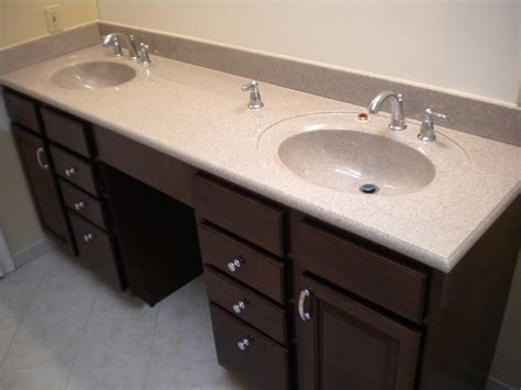 Furniture. Attractive Bathroom With Double Sink Vanities